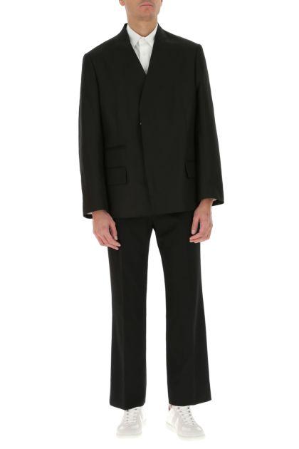Black cotton blend blazer