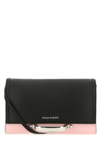 Two-tone leather small The Story clutch