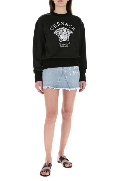 Black polyester blend sweatshirt