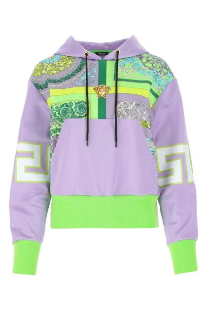 Multicolor cotton and polyester blend sweatshirt