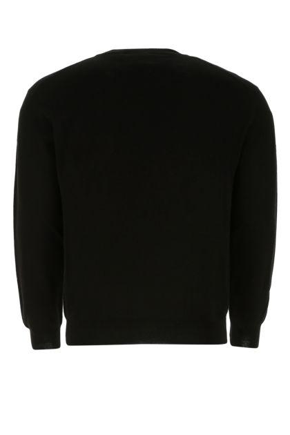 Black cotton blend sweater