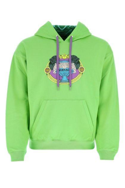 Fluo green cotton sweatshirt