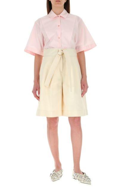 Cream cotton bermuda shorts
