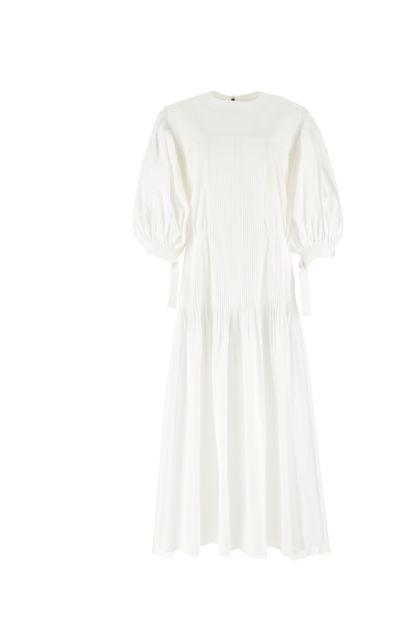 White poplin dress