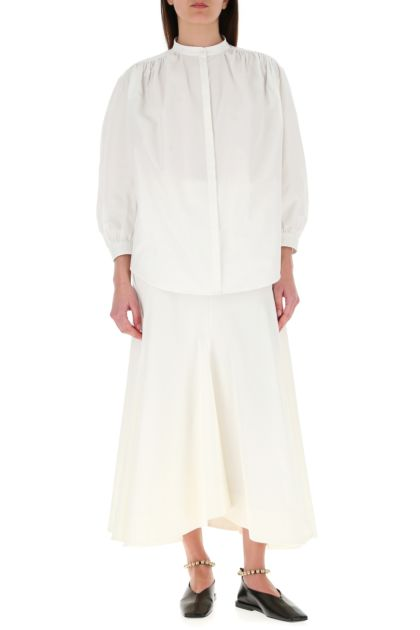 Ivory polyester blend skirt