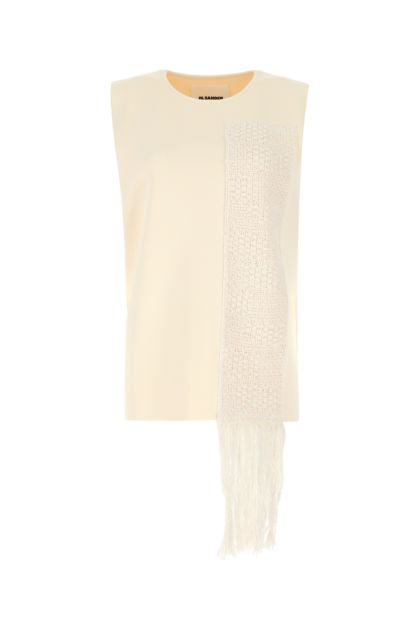 Ivory stretch viscose blend top