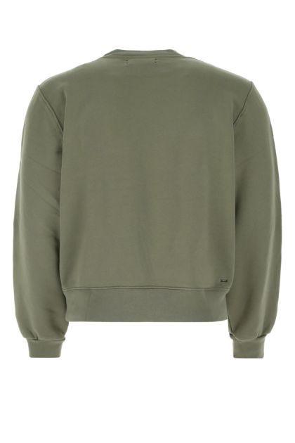 Army green cotton sweatshirt