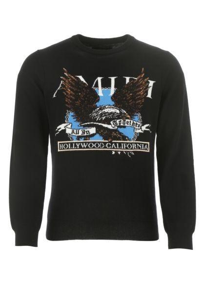 Black cashmere blend sweater