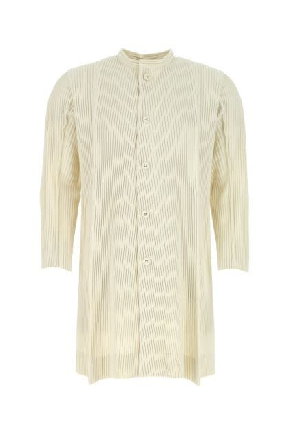 Ivory polyester overcoat