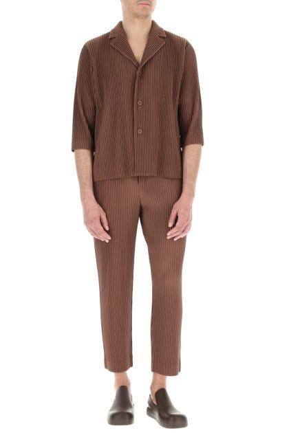 Brown polyester blazer