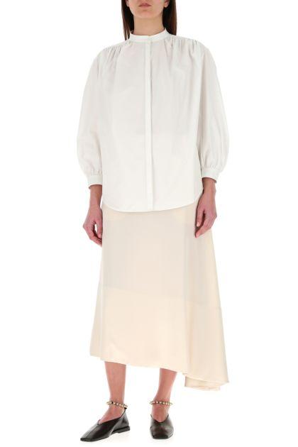 Ivory satin skirt