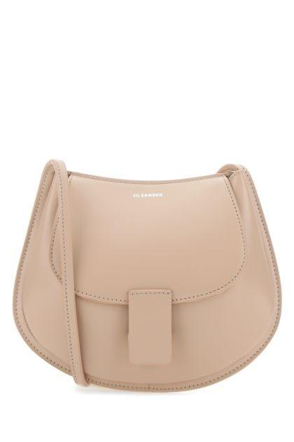 Pink skin leather mini shoulder bag