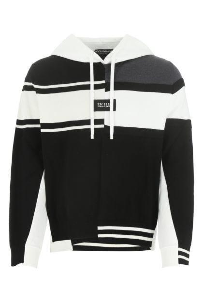 Multicolor stretch wool blend sweatshirt