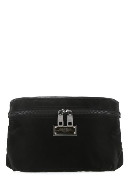 Black fabric DNA belt bag