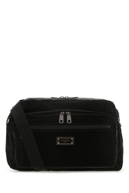 Black nylon Messenger crossbody bag