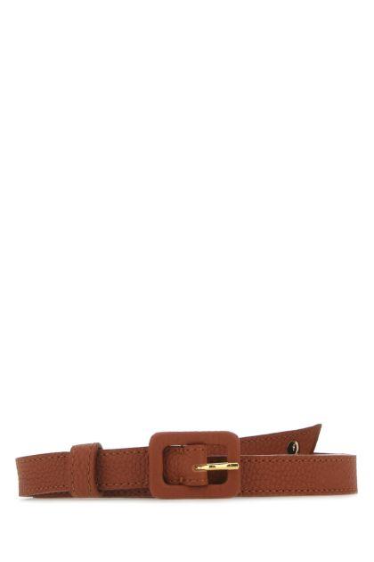 Brick leather belt