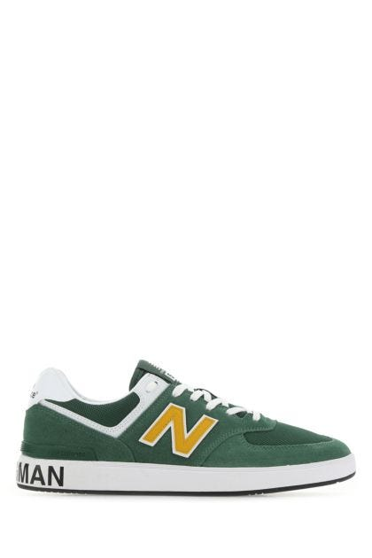 Multicolor fabric and leather 574 sneakers