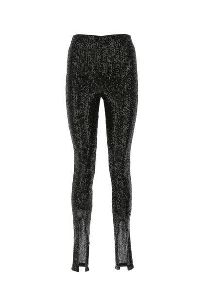 Black paillettes Alicia leggings