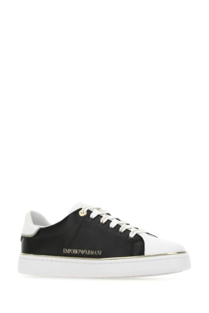 Two-tone leather sneakers