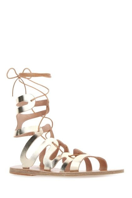 Gold leather Clelia sandals