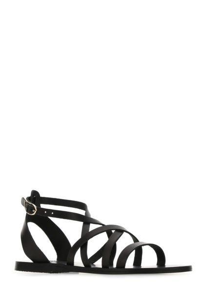 Black leather Delia sandals