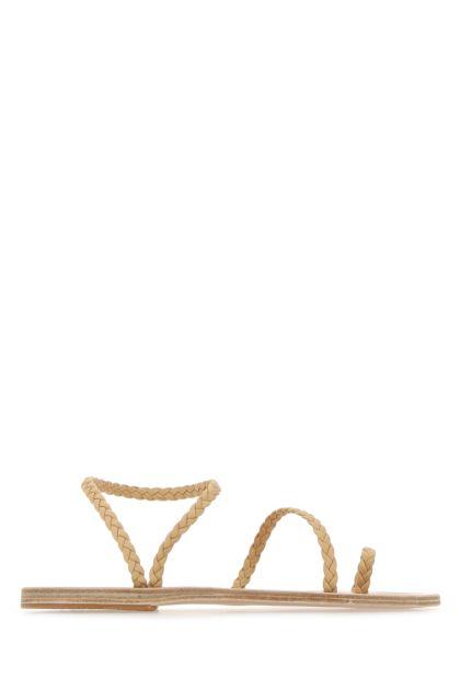 Beige nappa leather Eleftheria thong sandals