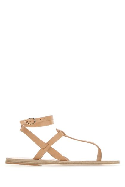 Skin pink leather Estia thong sandals