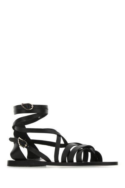 Black leather Satira sandals