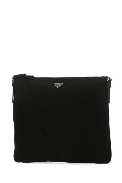 Black nylon crossbody bag