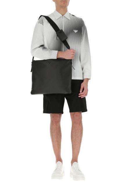 Black nappa leather crossbody bag