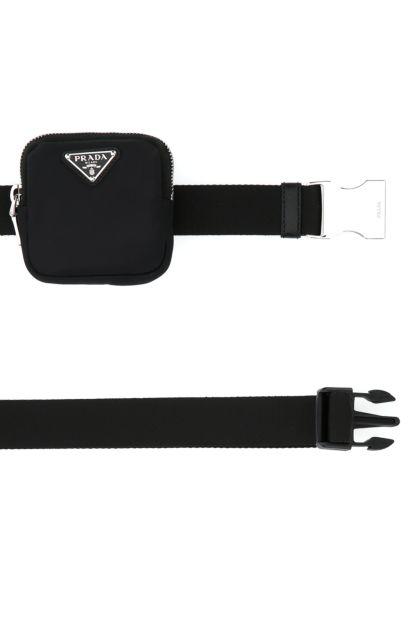 Black nylon belt