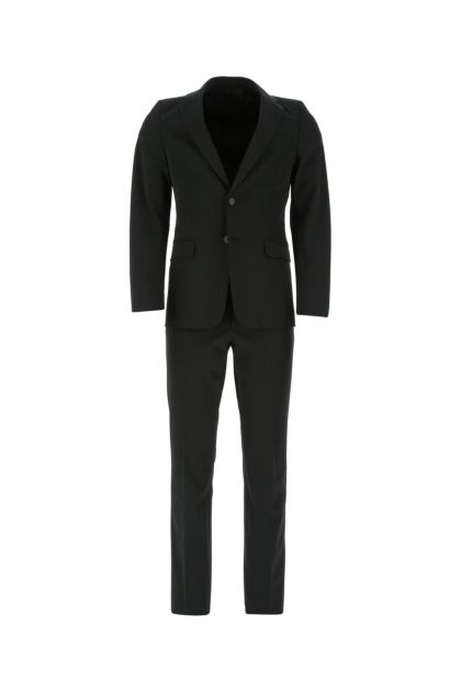 Black stretch polyester suit