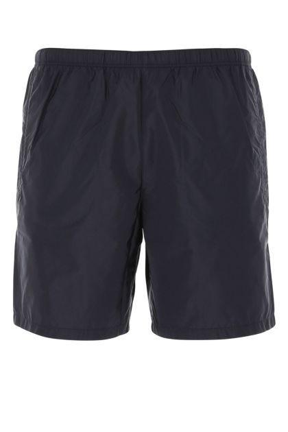 Midnight blue nylon swimming shorts