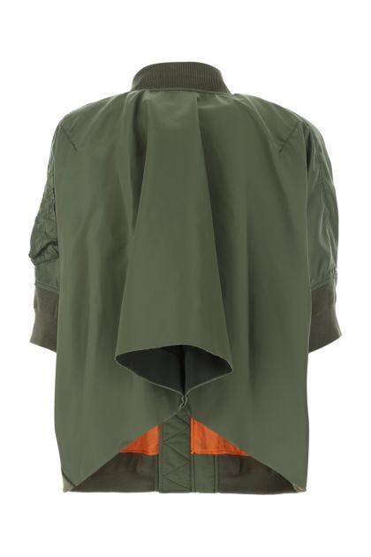 Military green nylon jacket