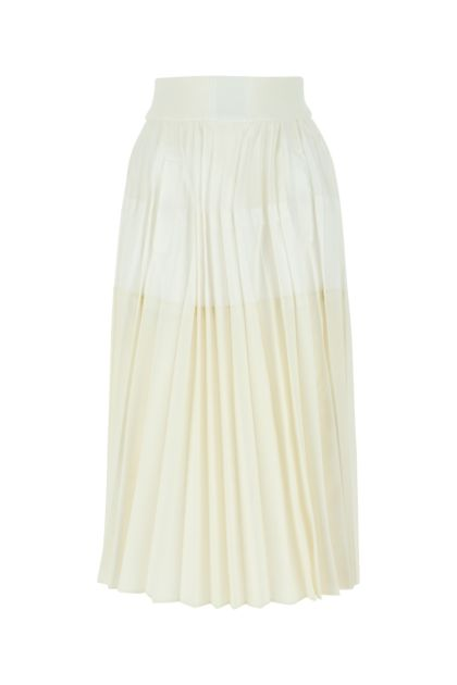 Two-tone fabric skirt