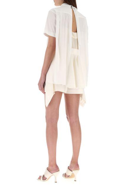Ivory polyester blend blouse