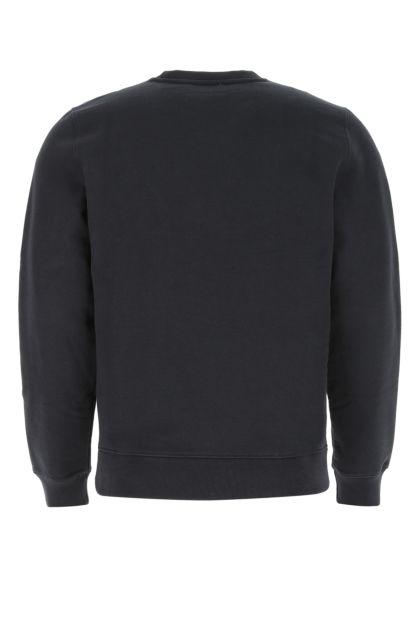 Slate cotton and polyester sweatshirt