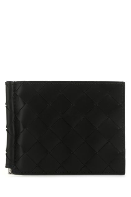 Black nappa leather card holder