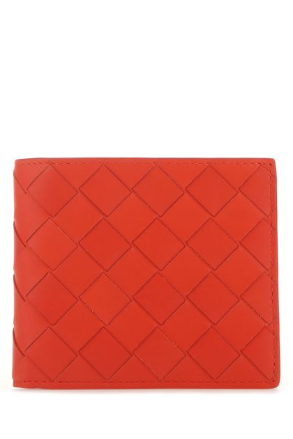 Red nappa leather wallet