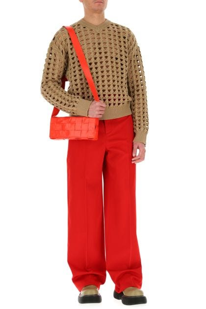 Red leather Stretch Cassette crossbody bag