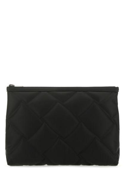 Black leather reversible document case