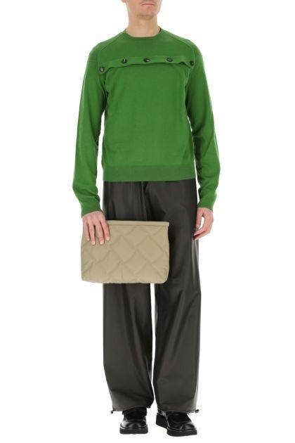 Khaki leather reversible document case