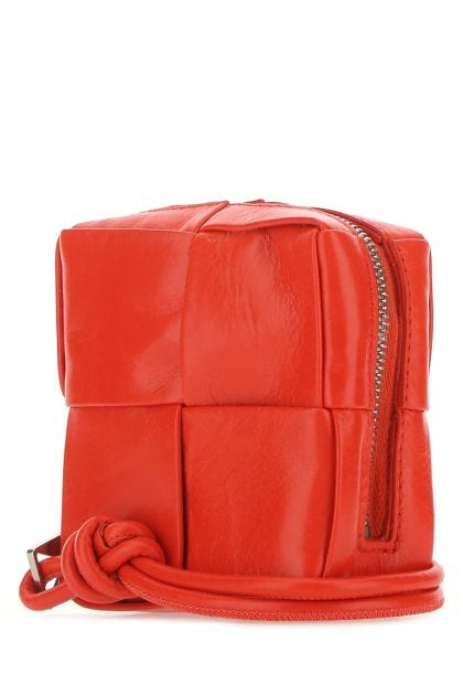Red nappa leather small pouch