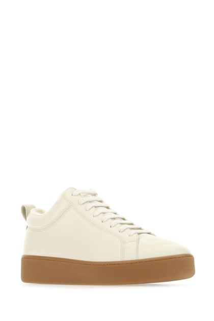 Ivory nappa leather Quilt sneakers