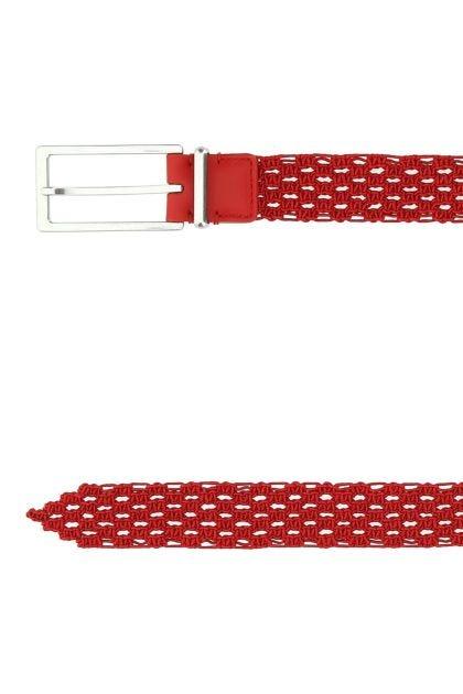 Red fabric belt