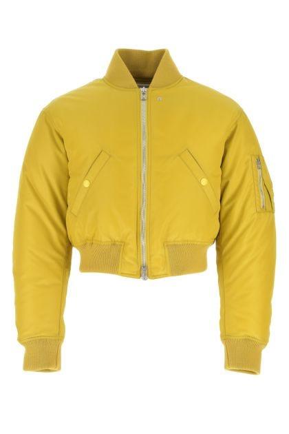 Acid green nylon down jacket