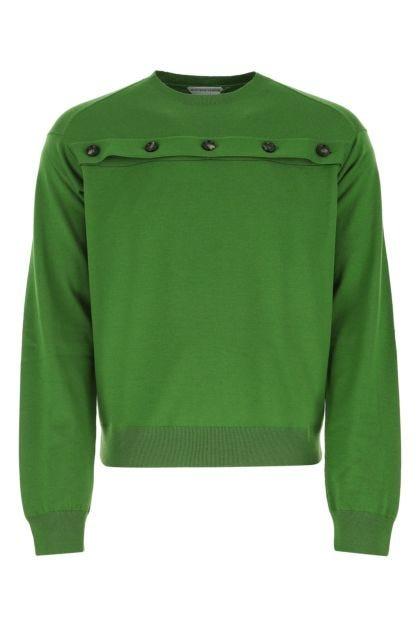 Grass green wool sweater