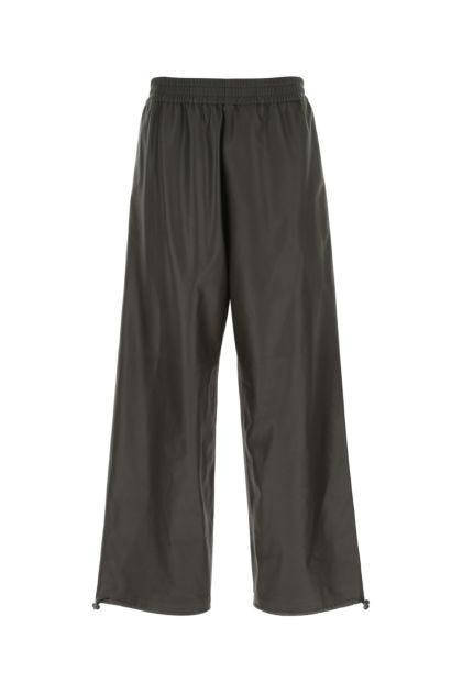 Dark brown leather pant