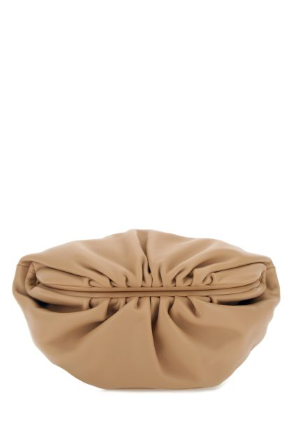 Skin pink nappa leather Chain Pouch clutch