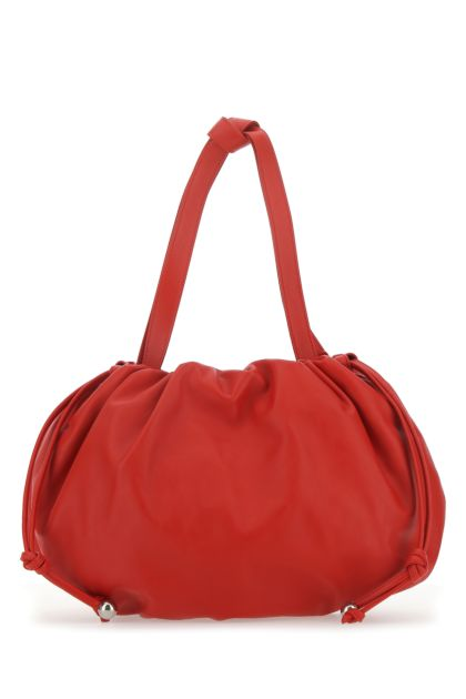 Red nappa leather medium Bulb handbag